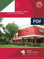 FMS Admission Brochure 2012