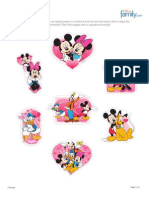 Mickey e Minnie Toppers para Cupcakes