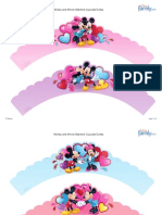 Saias de Cupcakes Mickey e Minnie