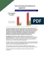 Por qué crece el consumo de marihuana en Argentina