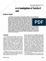 Recent Advances in Investigations of Toxicity Of