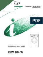Washing Machine Instructions Bendix