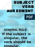 1st Five Rules on Subject Verb Agreement