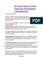 Ethical Principles and Research Methodoligies