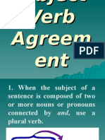 Rules on Subject-Verb Agreement