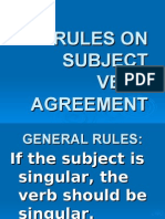 Subject Verb Agreement for Copying