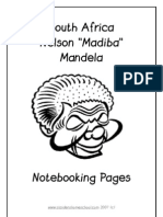 Nelson Mandela Notebooking Pages