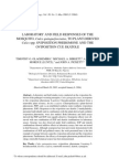 Laboratory and Field Responses of The