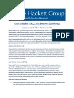 Sales Directors Germany & UK