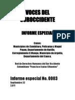 Masacres y violaciones de DDHH en Nariño