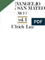 Ulrich, Luz - El Evangelio Segun San Mateo 01