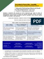 Plan 56 - Adecuacion Profesional para Maestros de Escuela Elemental en Plan de Mejoramiento 2011-2012