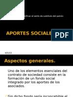 APORTES, CAPITAL SOCIAL, DISOLUCIÓN, S.A.S.
