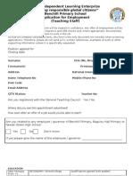 Teaching Application Form
