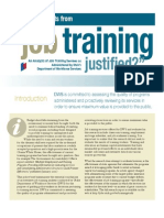 Job Training Research Report from the Utah Department of Workforce Services