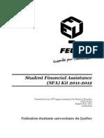 En - Student Financial Assistance (SFA) Kit 2011-2012