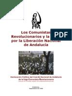 LOS COMUNISTAS REVOLUCIONARIOS Y LA LUCHA POR LA LIBERACIÓN NACIONAL DE ANDALUCIA - 1988