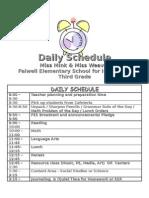 3 Mink Weaver Daily Schedule