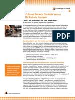 PLC-Based Robotic Controls Versus OEM Robotic Controls