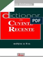 Dimitrescu Florica - Dictionar de Cuvinte Recente