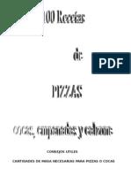 100 Recetas de Pizzas, Cocas, Empanadas y Calzone