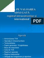 TVA - Regimul Intracontinental Si International