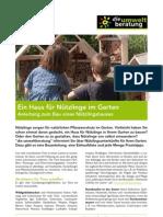 Haus Fuer Nuetzlinge Infobl Garten