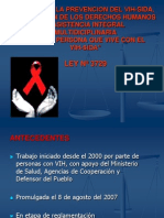 Ley Para La Prevencion Del Vih-sida Ds