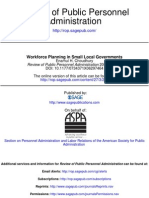 Workforce Planning in Small Local Governments