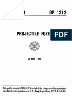 OP 1212, Projectiles Fuzes, May 1945, Ver B
