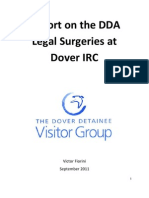 Report on the DDA  Legal Surgeries at  Dover IRC