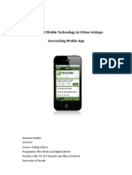 Mobile media apps in Urban Settings