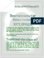 Eclipses Are the Shadows Formed in Nature1