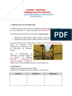 Materiales-Propiedades, clasificación y aplicaciones
