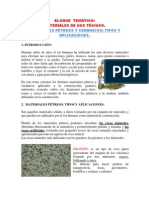 Materiales pétreos y cerámicos