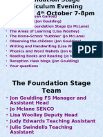 Foundation Stage Curriculum Evening 2011
