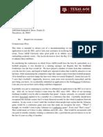 A&M SEC letter
