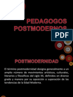 PEDAGOGOS POSTMODERNOS
