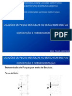 LIGAÇÕES DE PEÇAS METÁLICAS AO BETÃO COM BUCHAS