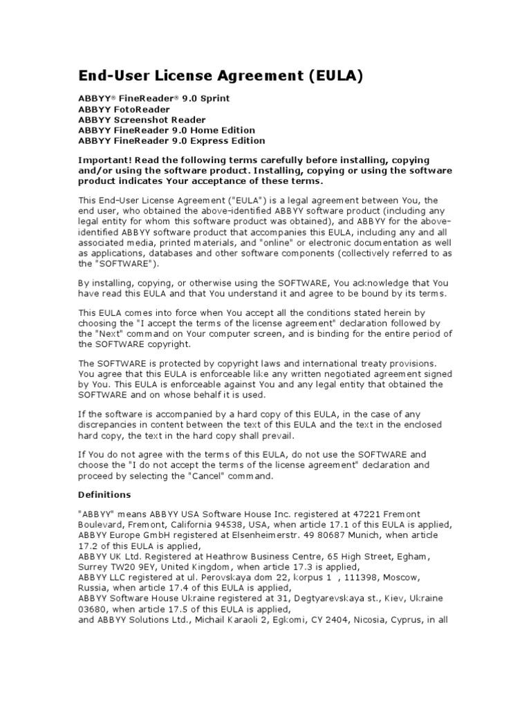 Eula0 Damages License