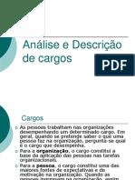 Slides Analise e Descrição de cargos