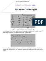 Full Wave Rectifier Without Center Tapped Transformer