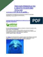 Los Delfines Son Personas No Humanas