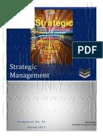 Strategic Management-Assignment No. 01