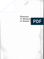 Elements of Mechanics of Elastic Solids