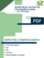 FERTILIZACIÓN EN EL CULTIVO DE MARACUYA (Passiflora