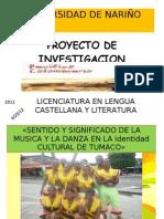 Diapositivas Proyecto Danza y Musica Unar
