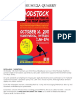 FOODSTOCK - Stop the Mega-Quarry, Ontario, Canada