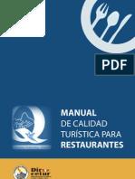 Manual Calidad Para Restaurantes