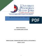 English Programmes Report